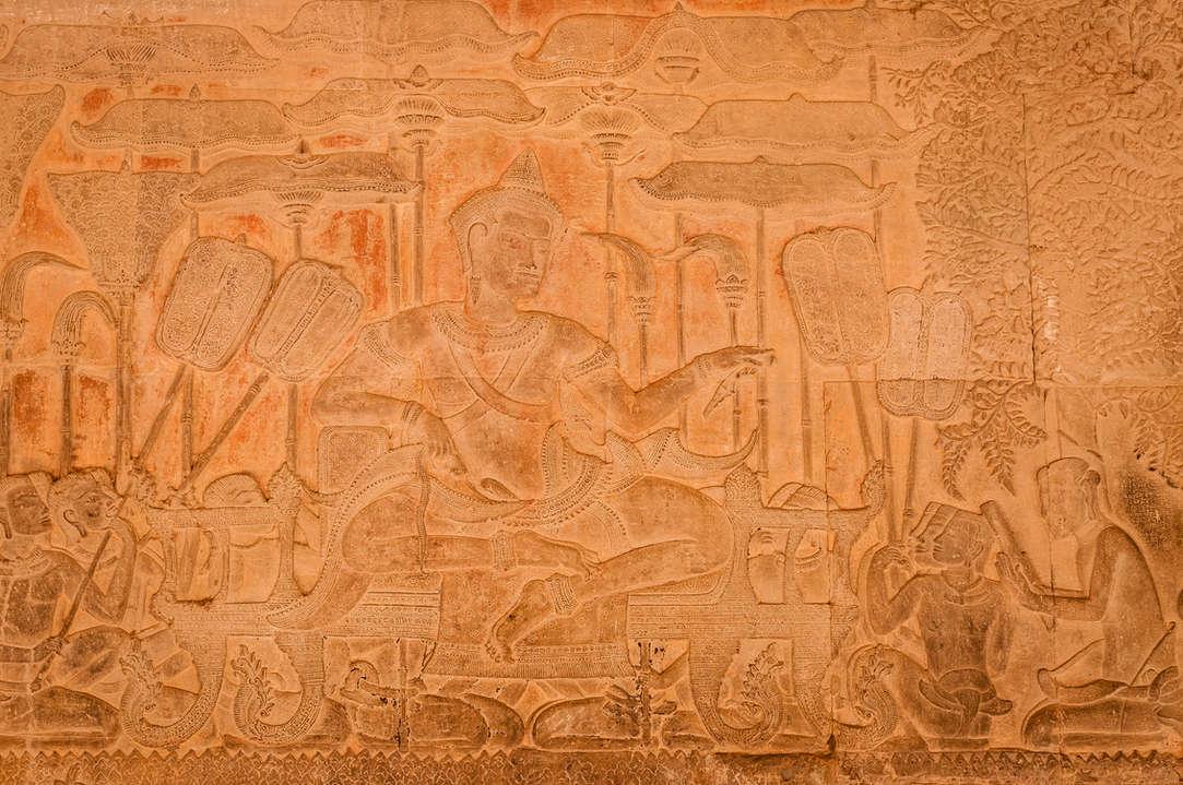 Surjawarman II, relief w Angkor Wat