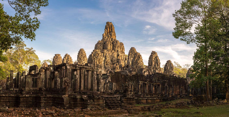 Wieczór w świątyni Bayon, Kambodża