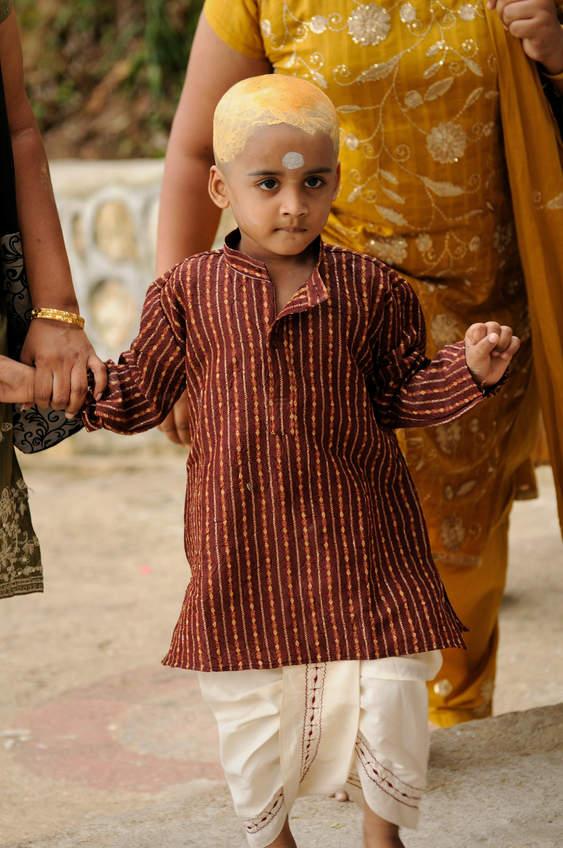 Mały pielgrzym podczas Thaipusam