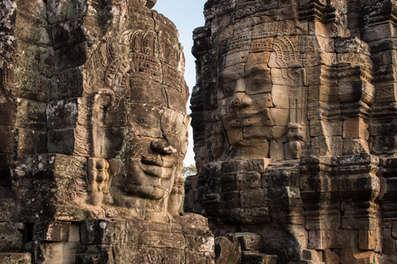 Tajemnicze twarze świątyni Bayon, Kambodża