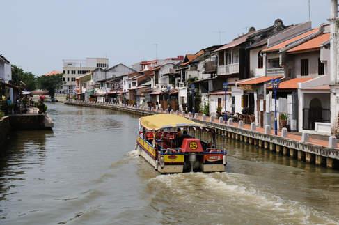 Kanał wodny w mieście Melaka