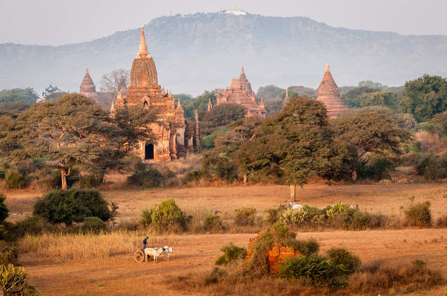 Stupy na równinie Pagan, Myanmar