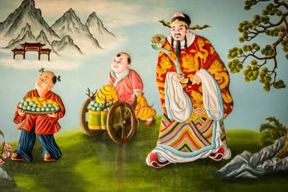 naścienne malowidła w świątyni