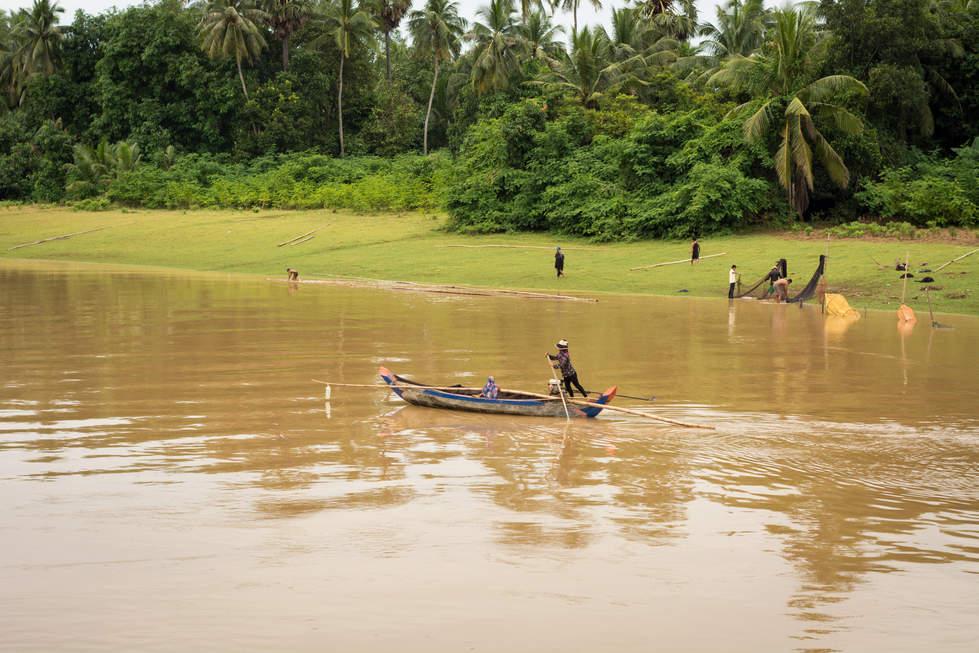 Rzeka niedaleko Battambang, Kambodża