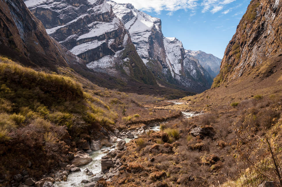 Dolina w himalajach, Nepal