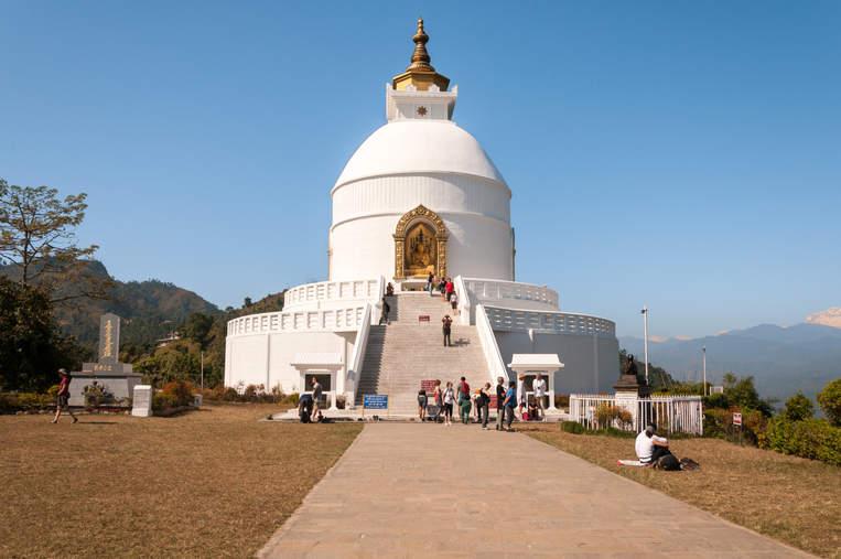 Świątynia Shanti Stupa, Pokhara