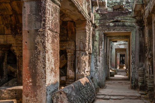 """Labirynt"" świątyni Preah Khan"
