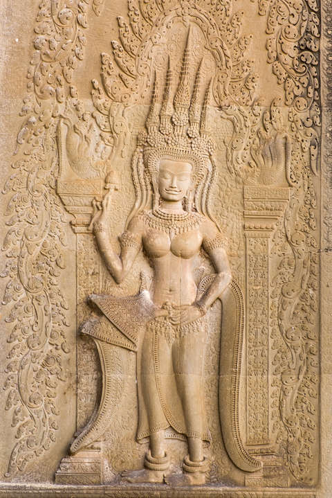 Apsara, Angkor Wat, Kambodża