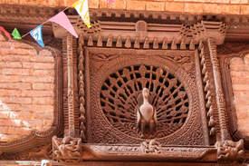 Okno z Pawiem, Bhaktapur