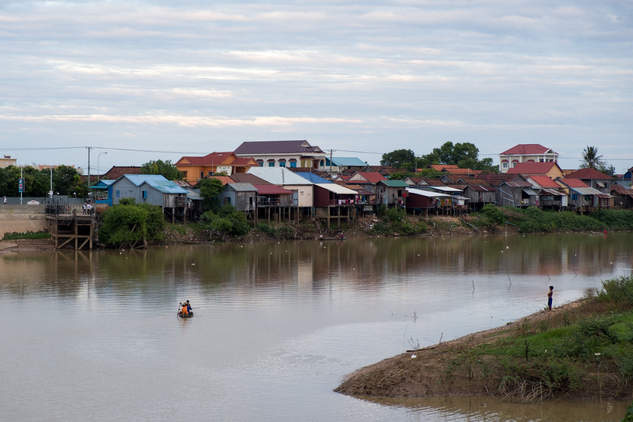 Rzeka Stung Sen, Kampong Thom, Kambodża