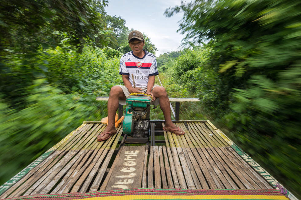 """Maszynista"" bambusowego pociągu, Battambang"