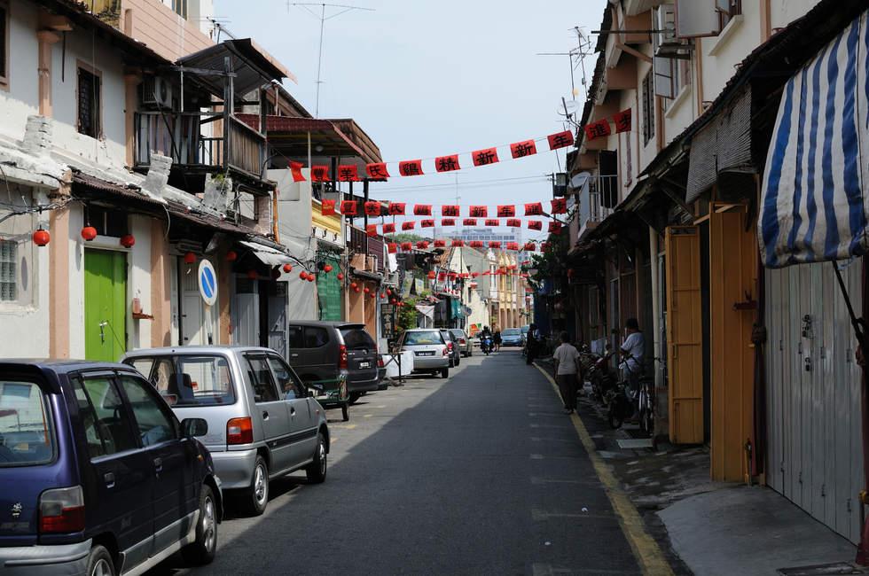 Ulica w miasteczku Melaka