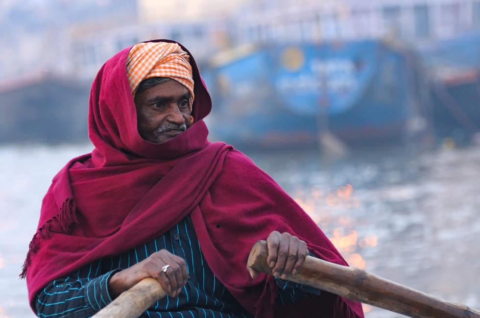 Wioślarz w Waranasi
