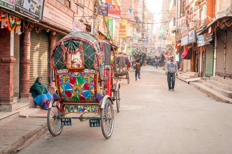 Ulica w dzielnicy Thamel, Kathmandu