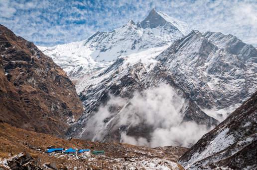 Obóz Pod Machhapuchhare, Nepal