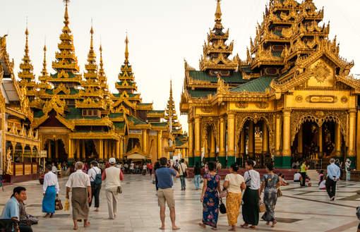 Kapliczki w świątyni Shwedagon