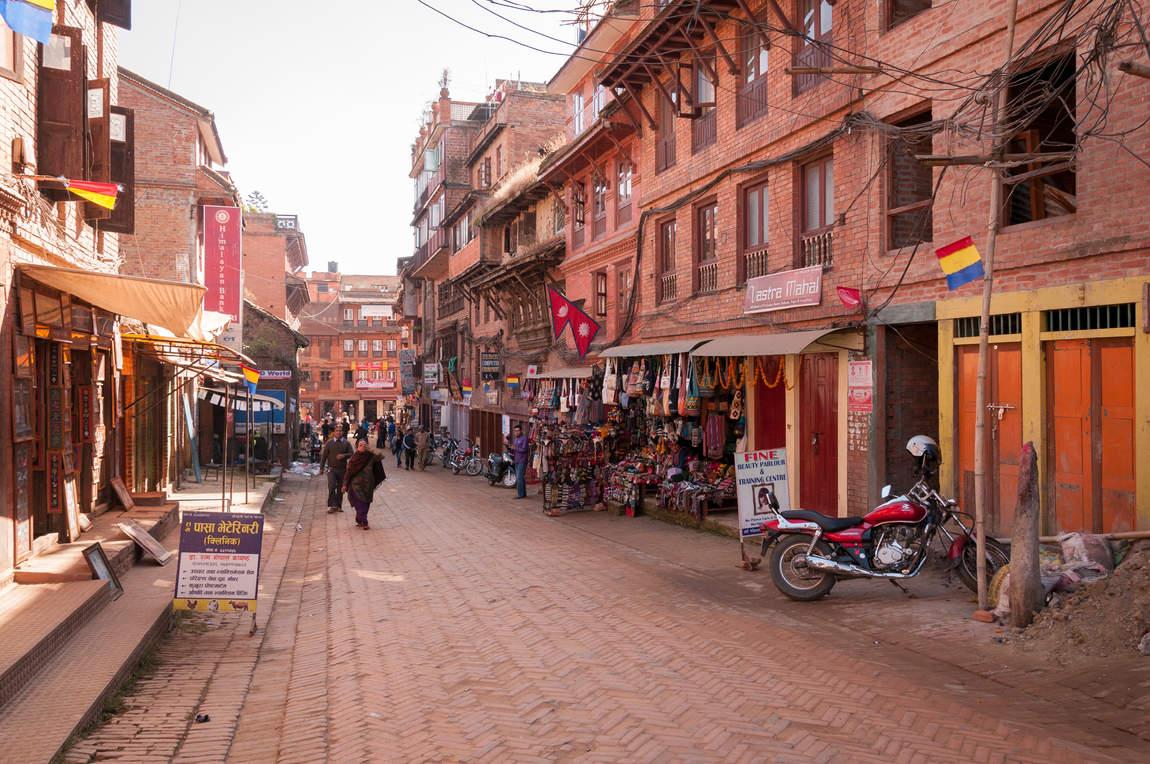 Ulica w Bhaktapurze