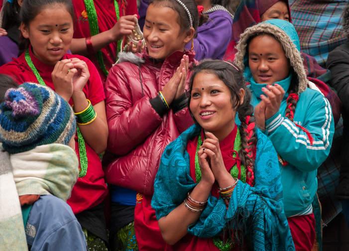 Tańce w Gorepani, Nepal