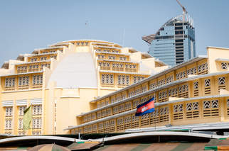 Centralny Market w Phnom Penh
