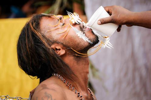 Spragniony pielgrzym Thaipusam