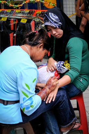 Malowanie henną, Kuala Lumpur
