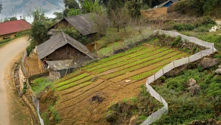 Górska wioska niedaleko Sapa
