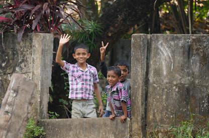 Młodzi mieszkańcy Kerali