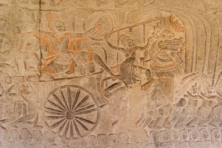 Relief w świątyni Angkor Wat
