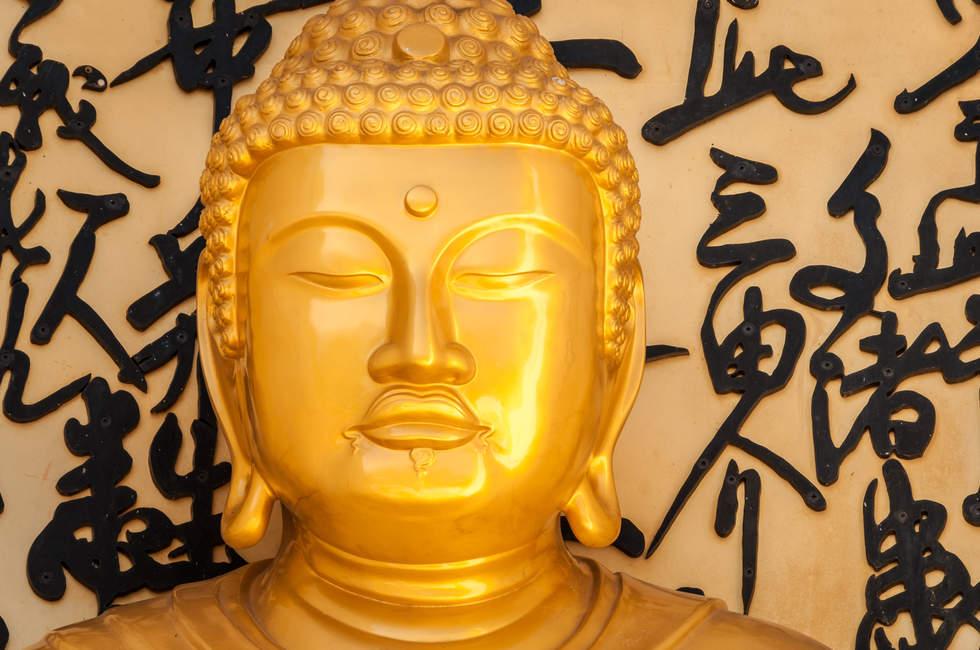 Posąg Buddy, Shanti Stupa, Pokhara