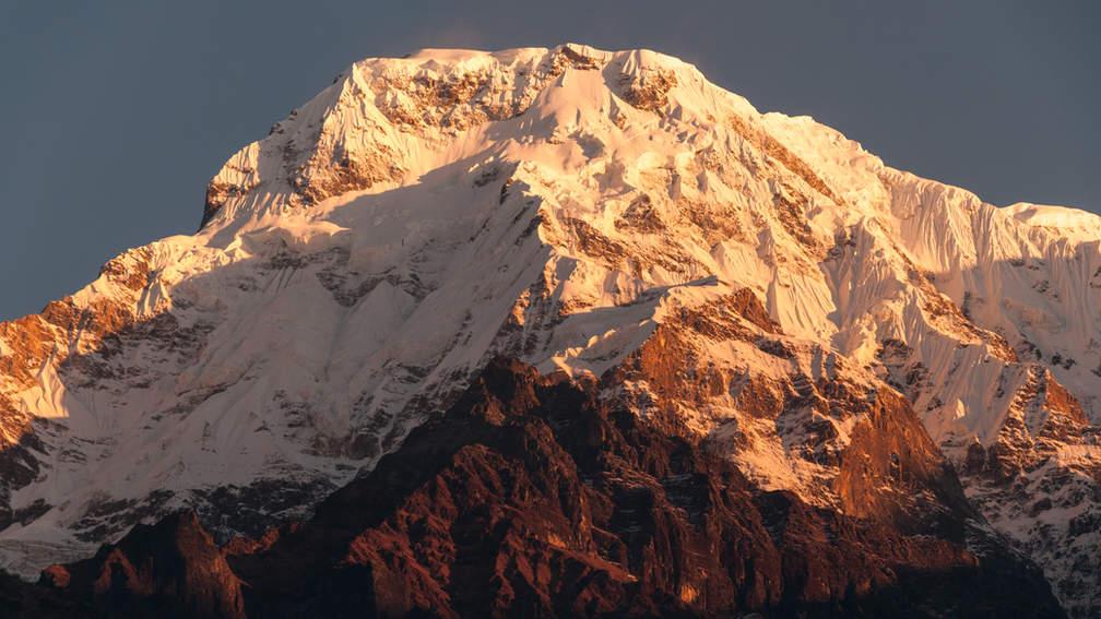 Szczyt o poranku Himalaje, Nepal