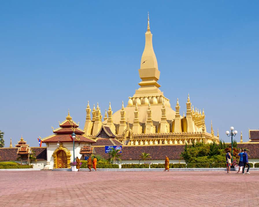 Pagoda Wat That Luang, Wientian, Laos