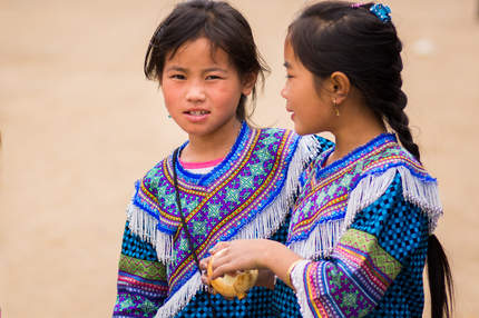 Dziewczyny z plemienia Hmong, Sapa