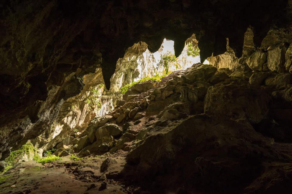 Jaskinia w okolicy miasteczka Sagada