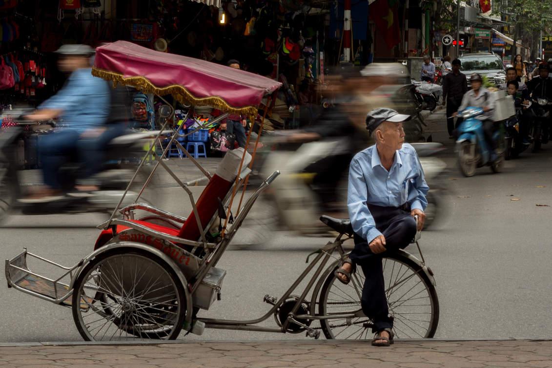 Rikszarz w Hanoi