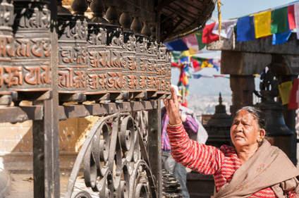 Młynki modlitewne, Swayambhunath