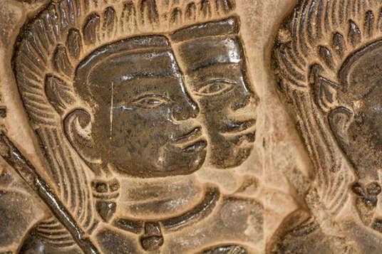 Khmerscy żołnierze, relief Angkor Wat, Kambodża