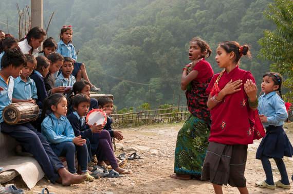 Występ szkolnych dzieci, Nepal