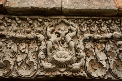 Reliefy w świątyni Wat Ek Phnom, Kambodża