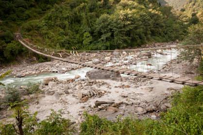 Wiszący most, Nepal