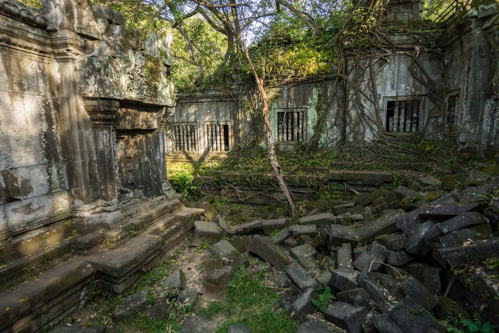 Pohłonięta przez dżunglę świątynia