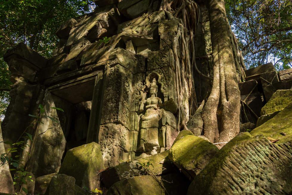 Płaskorzeźba w świątyni Beng Mealea