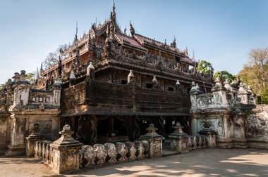 Klasztor Shwenandaw Kyaung, Mandalay, Myanmar (Birma)