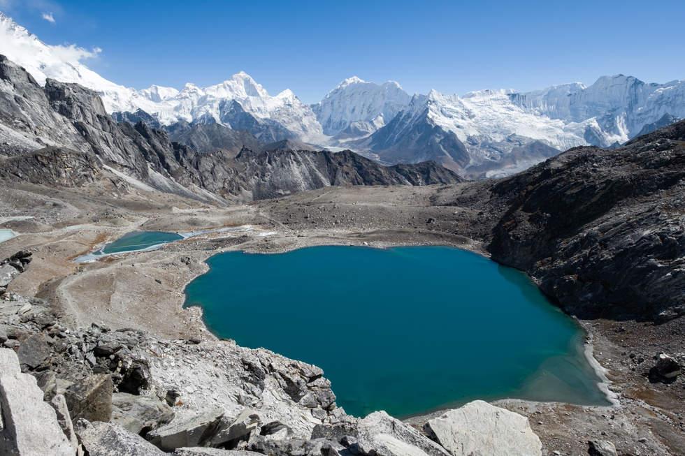 Widok z przełęczy Kongma La