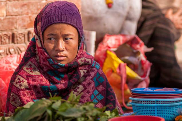 Kobieta na Placu Durbar