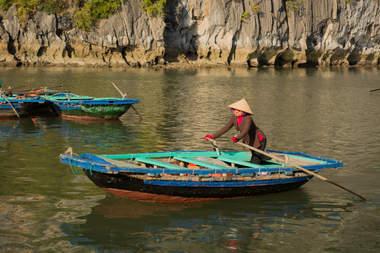 Łódka na Ha Long