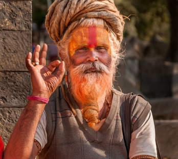 Sadhu w Kathmandu
