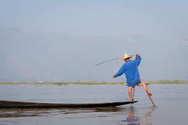 Rybak z Inle, Myanmar
