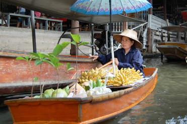 Wodny Targ w Bangkoku