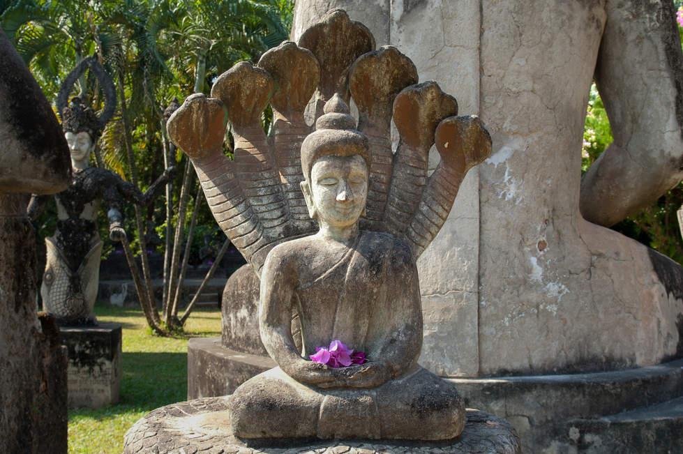 Posąg, Park Buddy, Wientian