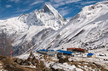 Baza Pod Annapurną, Himalaje, Nepal